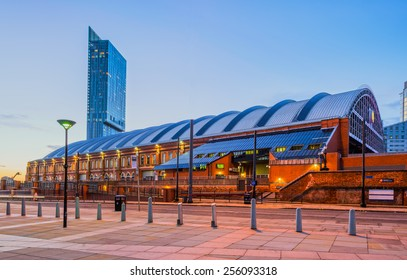 Beetham Tower and former Manchester railway station, Manchester, England.