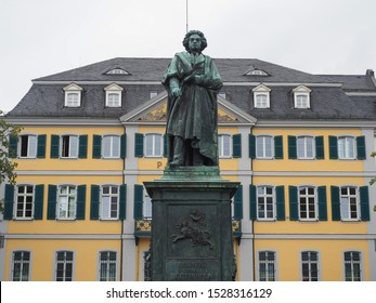 Beethoven Denkmal (unveiled 1845) bronze statue in Bonn, Germany