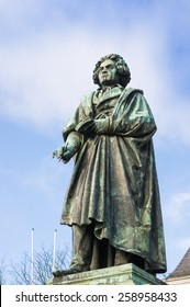 Beethoven Monument in Bonn, Germany.It was unveiled on 12 August 1845,[1] in honour of the 75th anniversary of the composer's birth.
