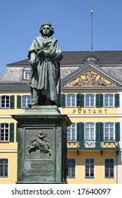 Beethoven monument on the Muensterplatz in Bonn, Germany