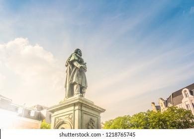 The Beethoven Monument on the Munsterplatz in Bonn, Germany
