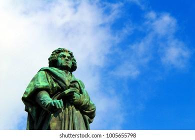 Beethoven statue on the Münsterplatz in Bonn