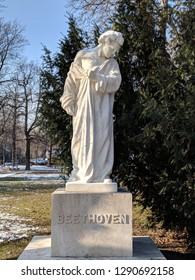 Beethoven statue in the park