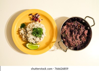 beetroot avial with basmati wild rice