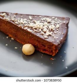 Beetroot cake closeup