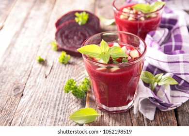 beetroot gazpacho and basil