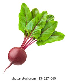 beetroot isolated on white background, clipping path, full depth of field