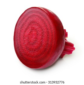 Beetroot with isolated on white background.