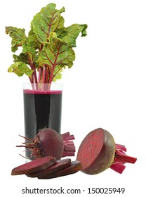 beetroot juice on a white background