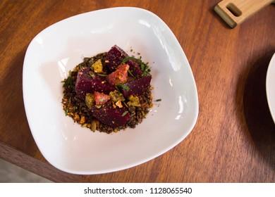 Beetroot salad with dukkah