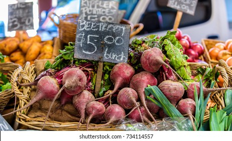 Beetroot for sale at Queen Victoria Market in Melbourne, Australia