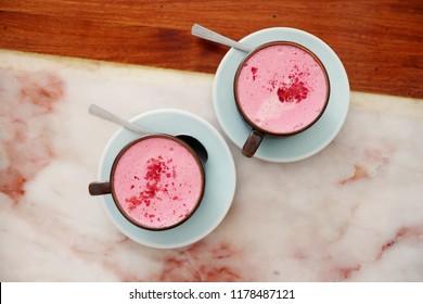 Beetroot Velvet Latte