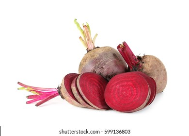 Beetroots isolated on white background