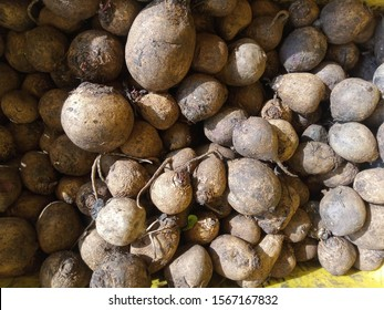 Beetroots also known as Table Beet, Garden Beet, Sugar Beet, Dinner Beet  in an Indian Vegetables Market for Selling