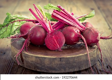 Beetroots on the wooden table