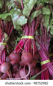 Beets on Display at Farmers Market