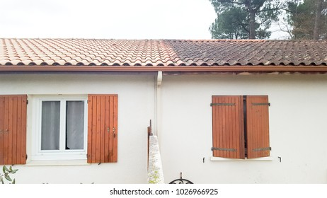 before and after dirty cleaning roof house