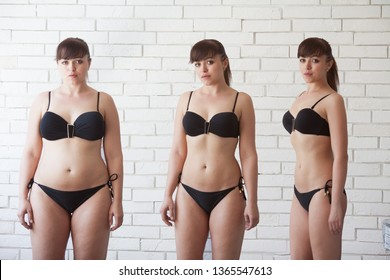 Before After Fit Images Stock Photos Vectors Shutterstock My disappointment considering trying the emily skye fit workout program? https www shutterstock com image photo before after losing weight comparison fat 1365547613