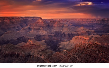 Before Night Falls on the Canyon, Grand Canyon National Park, Arizona