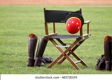 Before the polo game, player chair