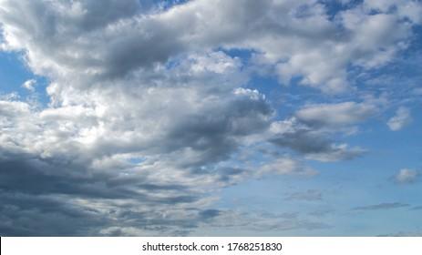 Before raining clouds.Dark cloud.Gray storm cloud.Rainy is coming.