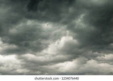 Before storm and heavy rain dark clouds in the sky awesome atmosphere background