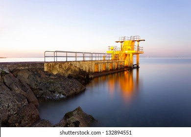 Before the Sunrise at Blackrock diving board. Salthill, Galway