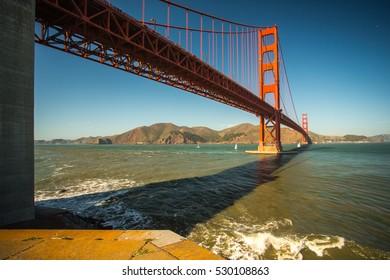Before sunset at Golden Gate Bridge, San Francisco, California, USA.