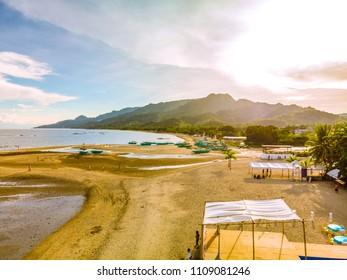 Before the sunset at Laiya, Batangas taken this summer of 2018