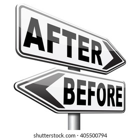 before versus after comparison make a change for the best towards a bright new future