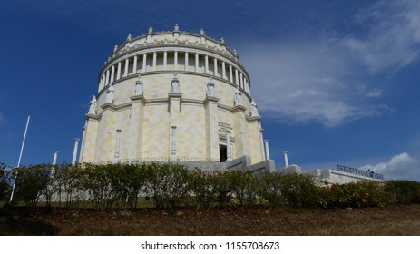 """The Befreiungshalle """"Hall of Liberation"""", is a Neoclassical monument on the Michelsberg hill above the town of Kelheim in Bavaria, Germany."""