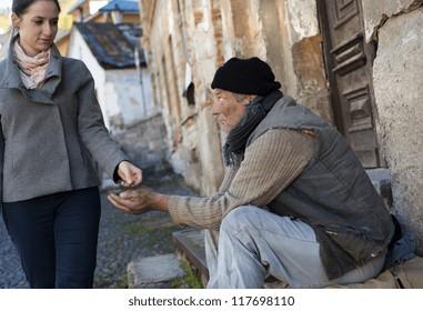 Begging man on the street