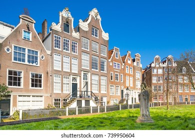 The Begijnhof in Amsterdam city, Netherlands.