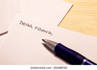 the beginnin of a letter to a very far friend