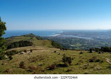 Beginning of Camino Norte in Basque Country. Camino de Santiago in Spain.
