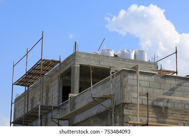 The beginning of the construction of the house in a new place
