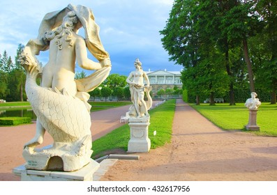 Beginning of summer in the Catherine park in Tsarskoye Selo