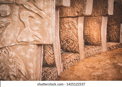 The beginning of time. Ancient site of Gobekli Tepe in Turkey. Gobekli Tepe is a UNESCO World Heritage site. The Oldest Temple of the World. Neolithic excavations. Pre-Pottery Neolithic.