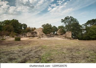 Beglik Tash - a prehistoric rock sanctuary situated on the Black Sea coast of Bulgaria, near town of Primorsko.