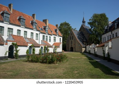 Beguinage in Diksmuide West Flanders Belgium