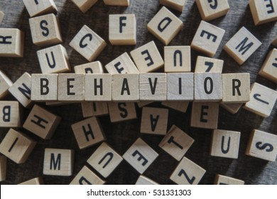 BEHAVIOR word concept