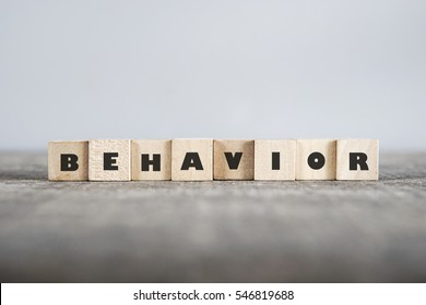 BEHAVIOR word made with building blocks