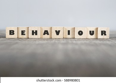 BEHAVIOUR word made with building blocks