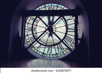 behind the Musée D'Orsay Clock