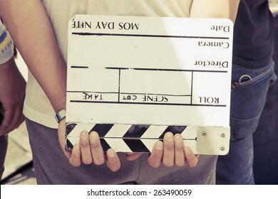 behind the scene, film crew production set