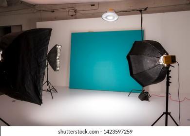 Behind the scenes of an empty studio shoot
