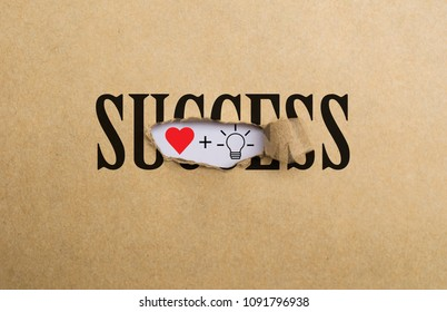 behind success are passion and idea , factors of success concept