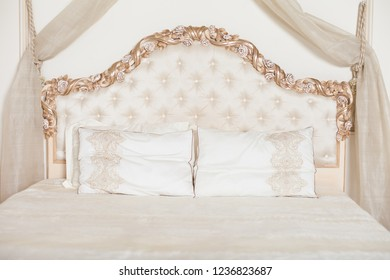 Beige beautiful bedhead