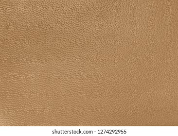 Beige/ camel leather texture background surface, natural grains and pores