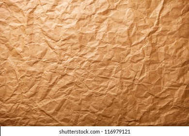 Beige crumpled paper for background, vintage style
